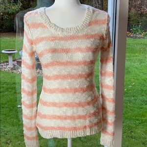 PINK ROSE SWEATER AND EARRINGS NWT